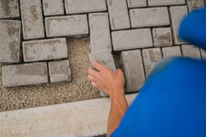 Pavers installed paver installation